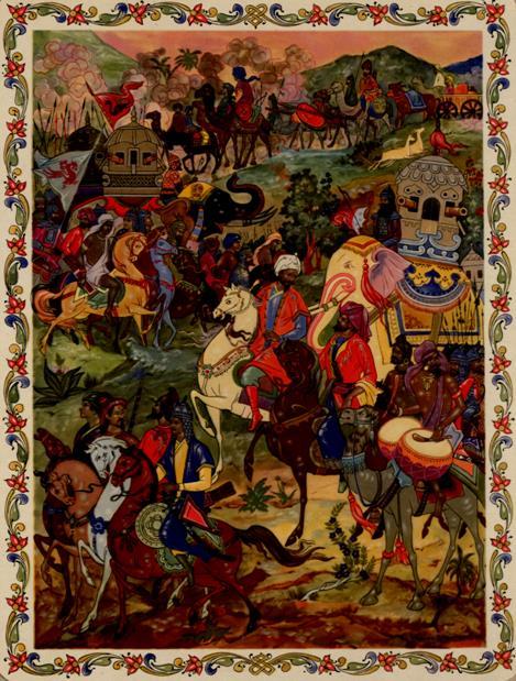 Индийское войско в походе <br /> Художник Б. Немтинов